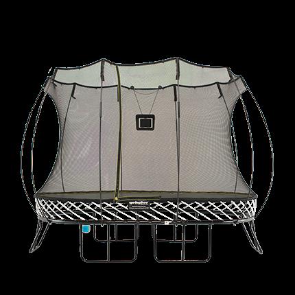 แทรมโพลีนสปริงฟรี รุ่น O77 ขนาด 2.4X3.4 ม. ฟุต พร้อมทาโกม่าเกมส์ลับสมอง SpringfreeTrampoline